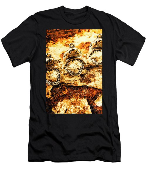 Shark Pendants On Rusty Marine Background Men's T-Shirt (Athletic Fit)