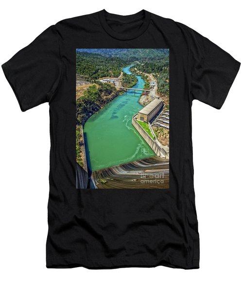 Shasta Lake Dam Men's T-Shirt (Athletic Fit)