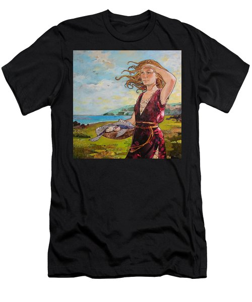 She Baked The Loaves And Dried The Fishes Men's T-Shirt (Slim Fit) by Robin Birrell