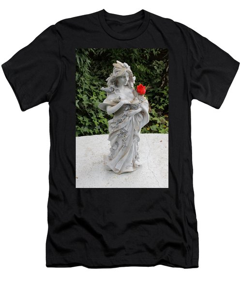 Men's T-Shirt (Slim Fit) featuring the photograph She Includes The Rose by Marie Neder