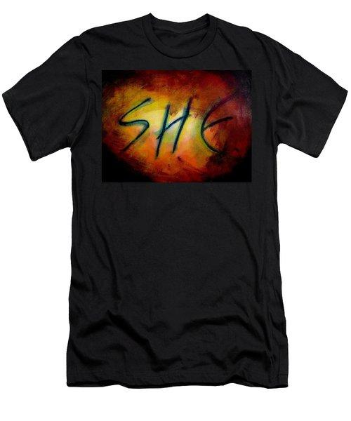She Men's T-Shirt (Athletic Fit)