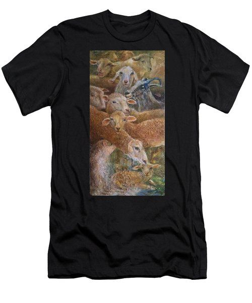 Sheep With Goats Men's T-Shirt (Athletic Fit)