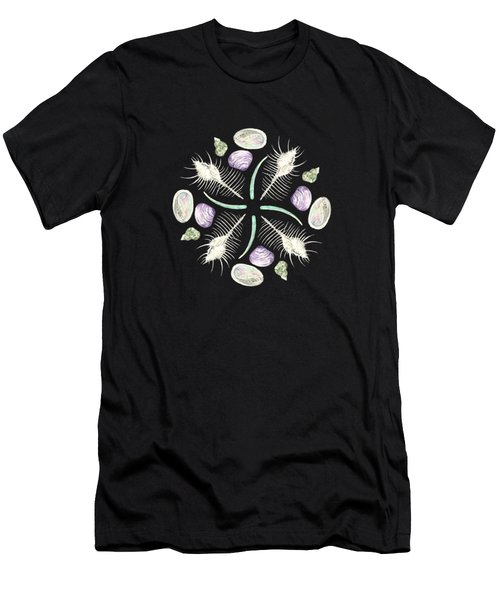 Shell Mandala - Philippines - Watercolor Men's T-Shirt (Athletic Fit)