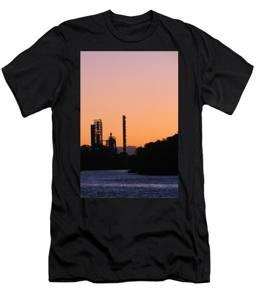 Shell Oil At Sunset Men's T-Shirt (Athletic Fit)