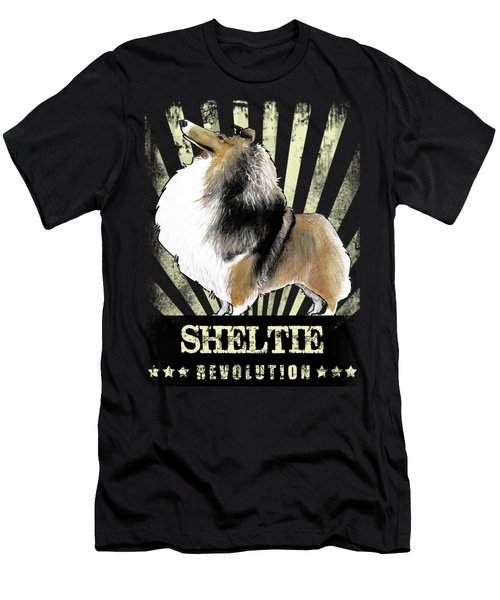 Sheltie Revolution Men's T-Shirt (Athletic Fit)