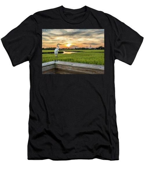 Shem Creek Pier Sunset Men's T-Shirt (Athletic Fit)