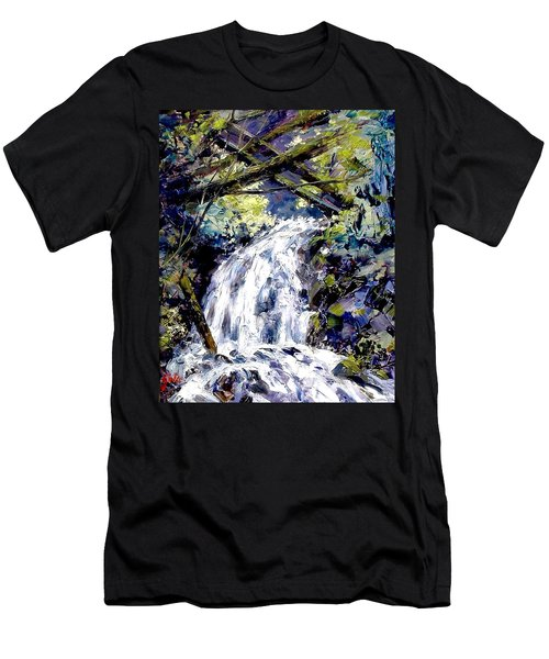 Shepherds Dell Falls Coumbia Gorge Or Men's T-Shirt (Athletic Fit)
