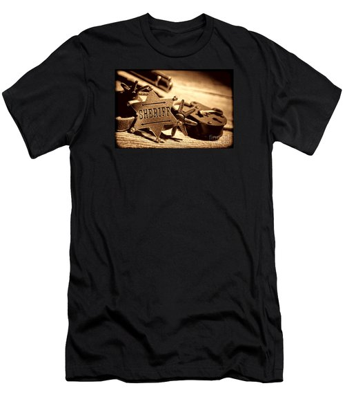 Sheriff Tools Men's T-Shirt (Slim Fit) by American West Legend By Olivier Le Queinec