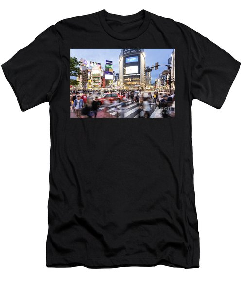 Shibuya Crossing At Night In Tokyo Men's T-Shirt (Athletic Fit)