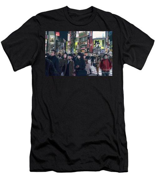 Shibuya Crossing, Tokyo Japan Poster 2 Men's T-Shirt (Athletic Fit)