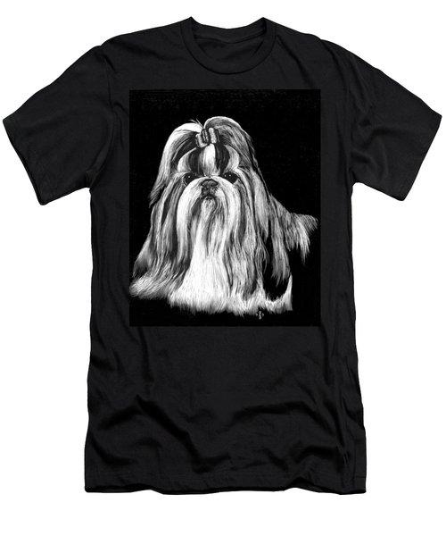 Men's T-Shirt (Slim Fit) featuring the drawing Shih Tzu by Rachel Hames
