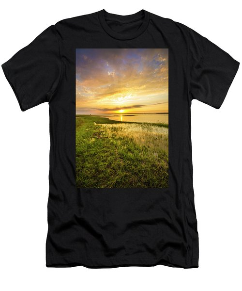 Shinnecock Bay Wetland Sunset Men's T-Shirt (Athletic Fit)