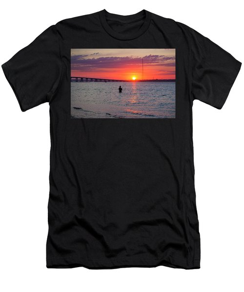 Shinnecock Fisherman At Sunset Men's T-Shirt (Athletic Fit)