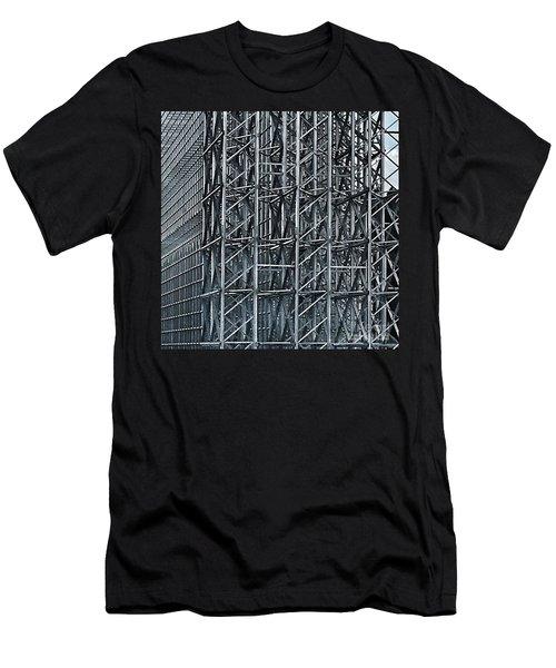 Shiny Steel Construction Men's T-Shirt (Athletic Fit)