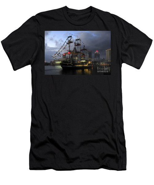 Ship In The Bay Men's T-Shirt (Slim Fit) by David Lee Thompson