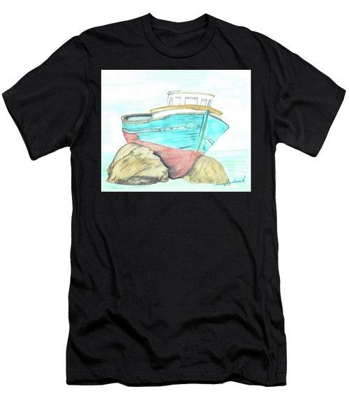 Ship Wreck Men's T-Shirt (Athletic Fit)