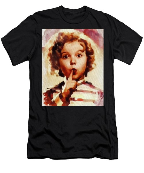 Shirley Temple, Vintage Movie Star Men's T-Shirt (Athletic Fit)