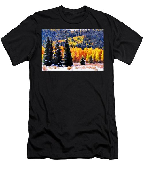 Shivering Pines In Autumn Men's T-Shirt (Athletic Fit)