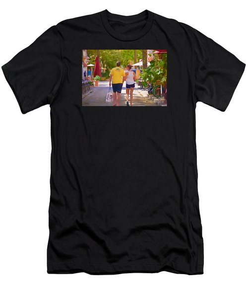 Men's T-Shirt (Slim Fit) featuring the photograph Shopping Miami Style by Judy Kay