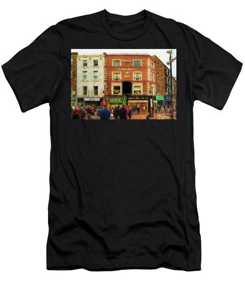shopping on Grafton Street in Dublin Men's T-Shirt (Athletic Fit)