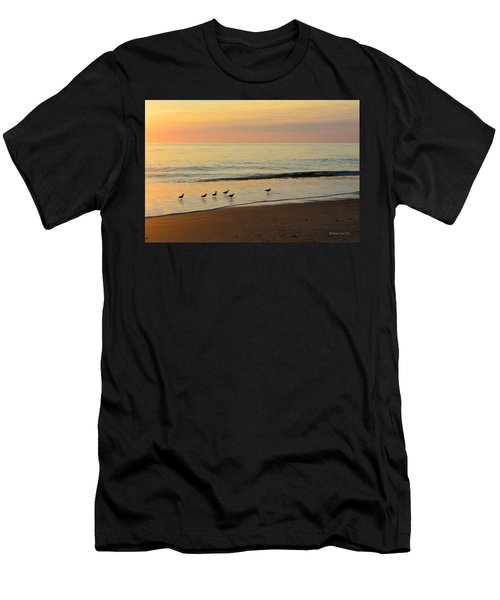 Men's T-Shirt (Athletic Fit) featuring the photograph Shorebirds 9/4/17 by Barbara Ann Bell