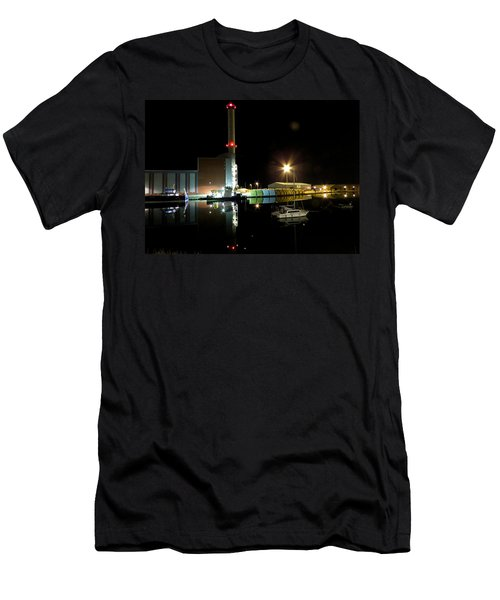 Shoreham Power Station Night Reflection 2 Men's T-Shirt (Athletic Fit)