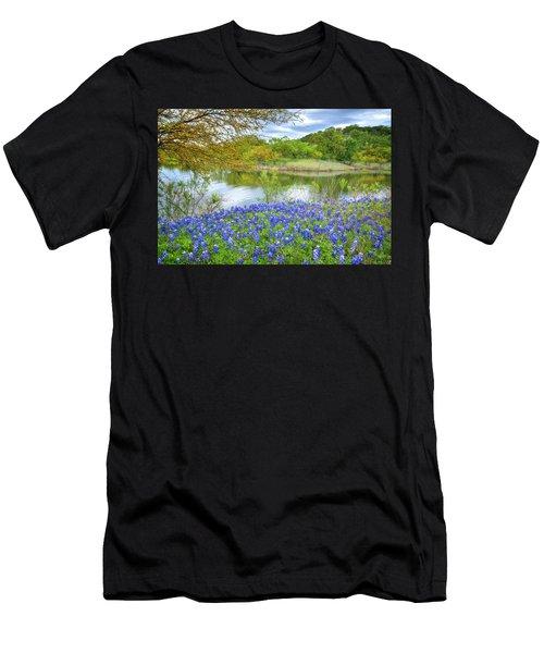 Shoreline Bluebonnets At Lake Travis Men's T-Shirt (Athletic Fit)