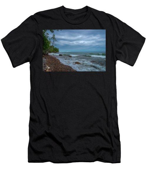 Shoreline Clouds Men's T-Shirt (Athletic Fit)