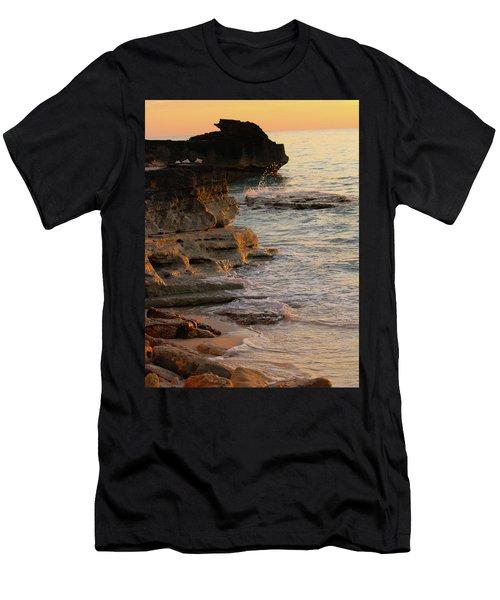 Shoreline In Bimini Men's T-Shirt (Athletic Fit)