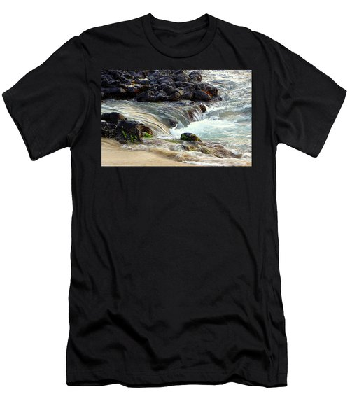 Men's T-Shirt (Slim Fit) featuring the photograph Shoreline by Lori Seaman