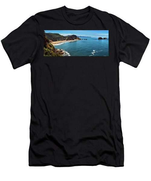 Short Beach, Oregon Men's T-Shirt (Athletic Fit)