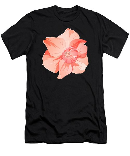 Short Trumpet Daffodil In Warm Pink Men's T-Shirt (Athletic Fit)