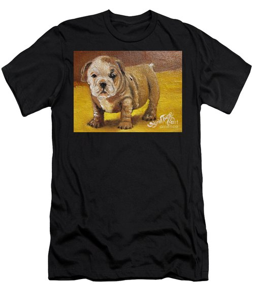 Chloe The   Flying Lamb Productions      Shortstop The English Bulldog Pup Men's T-Shirt (Athletic Fit)