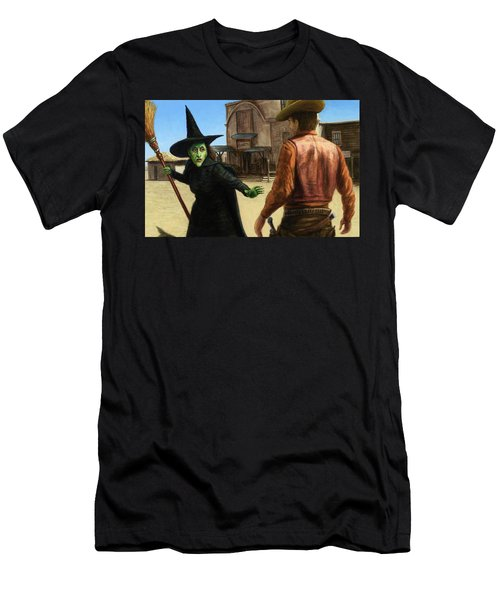 Men's T-Shirt (Slim Fit) featuring the painting Showdown by James W Johnson