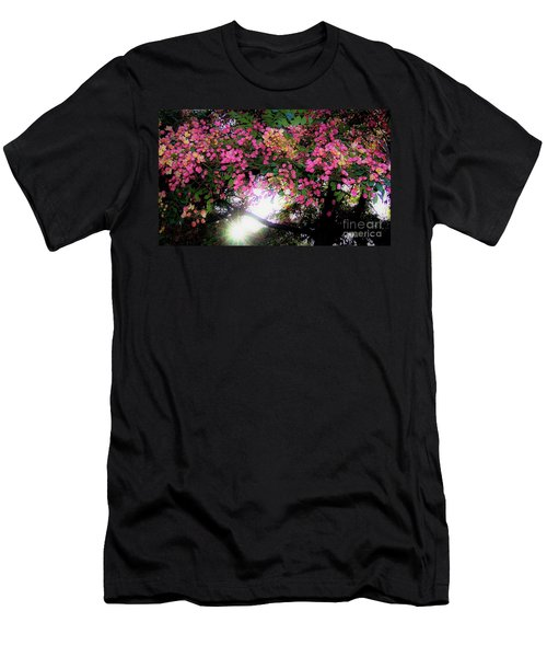 Shower Tree Flowers And Hawaii Sunset Men's T-Shirt (Athletic Fit)