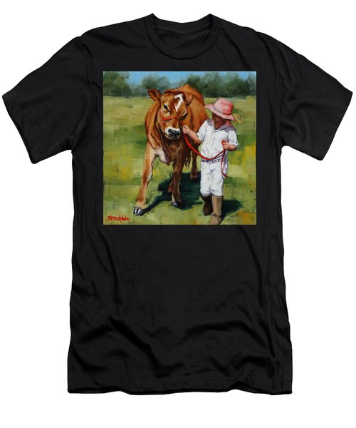 Men's T-Shirt (Slim Fit) featuring the painting Showgirls by Margaret Stockdale