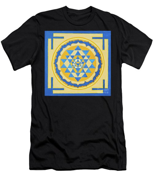 Shri Yantra For Meditation Painted Men's T-Shirt (Athletic Fit)