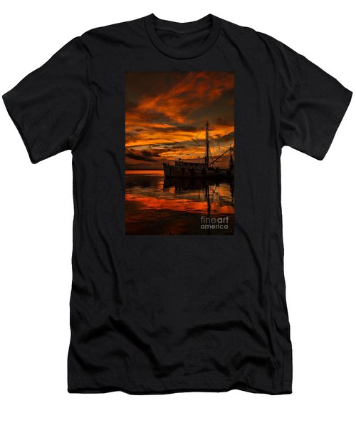Shrimp Boat Sunset Men's T-Shirt (Athletic Fit)