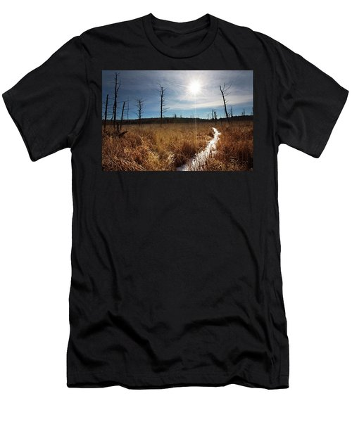 Men's T-Shirt (Athletic Fit) featuring the photograph Shrub Swamp by Sue Collura