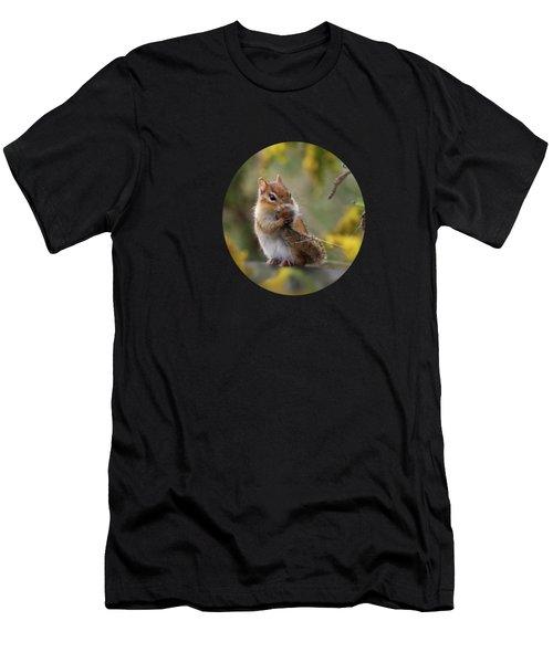Shy Little Chipmunk Men's T-Shirt (Athletic Fit)