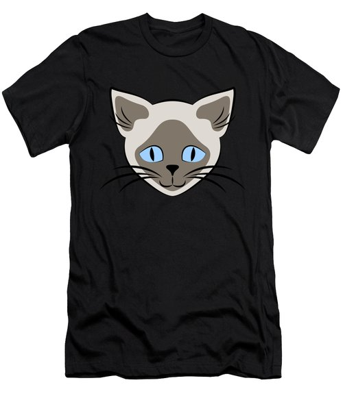 Siamese Cat Face With Blue Eyes Light Men's T-Shirt (Athletic Fit)