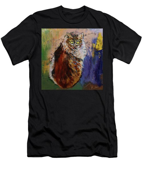 Siberian Cat Men's T-Shirt (Athletic Fit)