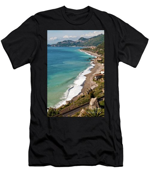 Men's T-Shirt (Athletic Fit) featuring the photograph Sicilian Sea Sound by Silva Wischeropp