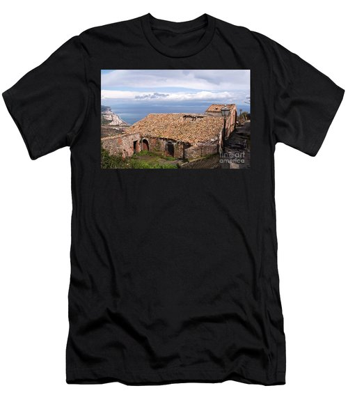 Men's T-Shirt (Athletic Fit) featuring the photograph Sicilian Forgotten Sound by Silva Wischeropp