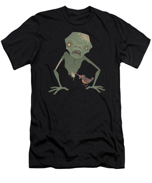 Sickly Zombie Men's T-Shirt (Slim Fit) by John Schwegel