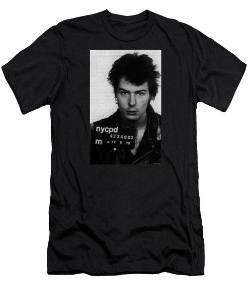 Sid Vicious Mug Shot Vertical Men's T-Shirt (Athletic Fit)