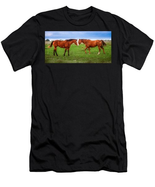 Men's T-Shirt (Athletic Fit) featuring the photograph Side By Side by Melinda Ledsome