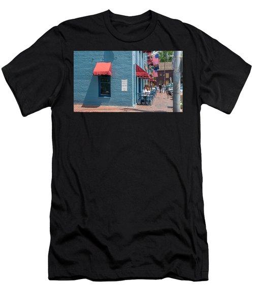 Sidewalk Cafe Annapolis Men's T-Shirt (Athletic Fit)