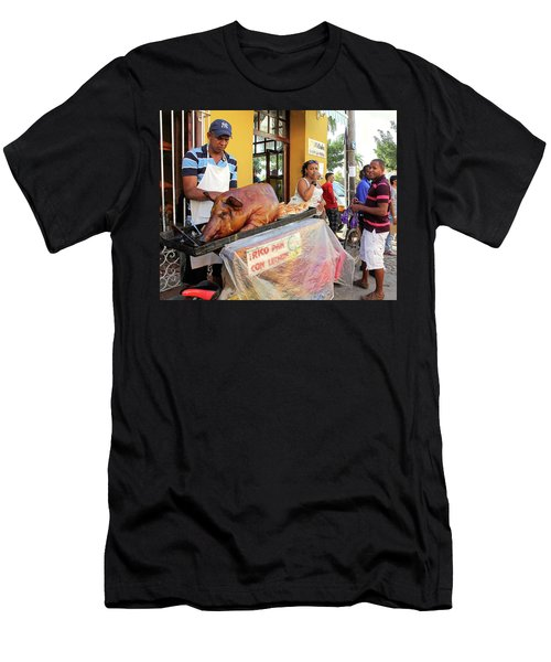 Sidewalk Cafe Men's T-Shirt (Athletic Fit)