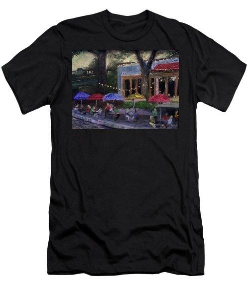 Sidewalk Cafe Men's T-Shirt (Athletic Fit)